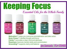 Young Living Essential Oils Focus & Concentration Jen4yleo@aol.com