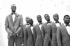 Chris Bosch wedding. Brown Groomsmen, Miami Heat, Real Weddings