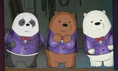 "passworoptional: ""From the suits to the this is just so cute "" Ice Bear We Bare Bears, We Bear, Zodiac Signs, Kawaii, Animation, Vintage Cartoon, Cute, Cartoons, Aesthetics"