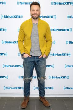 WHY: The base of McHale's outfit (gray tee, worn jeans, suede boots) could go under any jacket on planet Earth and still look good, but its this poppy yellow bomber that brings the look to the next level.