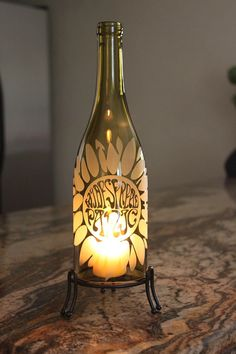 Widespread Panic Sunflower Wine Bottle Lantern