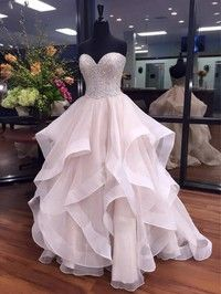 Ball Gown Sweetheart Organza Floor-length Beading Boutique Prom Dresses#Milly020103055