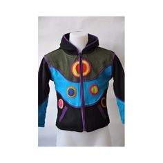 Beautiful cotton zip-vest with long funky hood and easy front pockets.