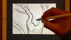 Apple Pencil drawing - HOW TO CREATE DISTANCE - PART 1, USING WEIGHT OF ...