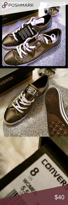 New in box satin olive green converse Super cute army green satin converse. New in box. Size 8. Converse Shoes Sneakers