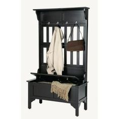 Home Styles, Hall Tree in Black, 5650-49 at The Home Depot - Mobile