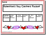 FREE Valentine's Day Center Packet