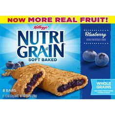 Rise and thrive with Kellogg's Nutri-Grain Soft Baked Apple Cinnamon Breakfast Bars, the wholesome goodness you need to shine your brightness. Strawberry Bars, Strawberry Breakfast, Blueberry Breakfast, Chocolate Chip Granola Bars, 16 Bars, Baked Strawberries, Cereal Bars, No Bake Bars, Breakfast Bars