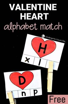 This heart alphabet match game is perfect for Valentine's Day! Match upper and lowercase letters, and work on fine motor too!