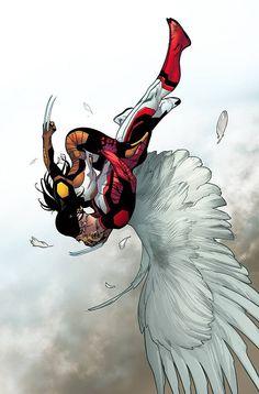 X-23 and Angel by Sara Pichelli #XMen #XForce #Mutants