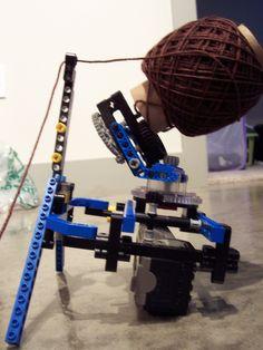 Lego Yarn Ball Winder and Swift // fuck yeah