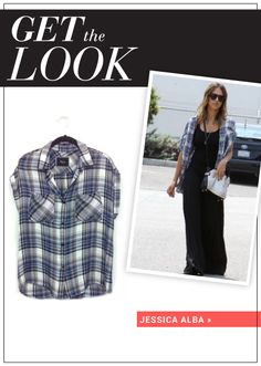 Jessica Alba's plaid shirt