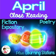 This April Close Reading packet has everything you will need to teach close reading comprehension skills for the month of April. Texts are presented in two Lexile levels to support differentiated instruction. It has April Fool's Day and spring-themed passages like how an egg becomes a chicken. It has poems such as Casey at the Bat for spring. It's great for test prep or any time of year! You won't believe the amazing price. 85 pages chock full of quality activities. Check it out!