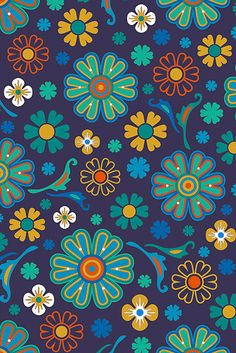 There is another craze is to draw patterns, flowers, mandala patterns in ink. Then you can even color them using color pencils. Hippie Wallpaper, Flower Wallpaper, Pattern Wallpaper, Iphone Wallpaper, Pattern Paper, Pattern Art, Retro Pattern, Textures Patterns, Print Patterns