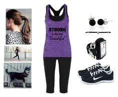 """""""Running with a Partner"""" by teodoramaria98 ❤ liked on Polyvore featuring James Perse, NIKE and Bling Jewelry"""