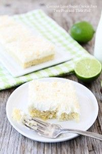 Coconut Lime Sugar Cookie Bars