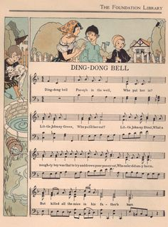 "Ding-Dong Bell music | ""The Child's Treasury"" edited by May … 