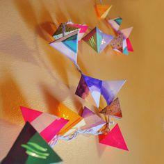 Paper Pyramid Light Garland - Cactus Bloom - Short Strand