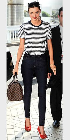 Miranda Kerr In a pair of super skinny jeans.
