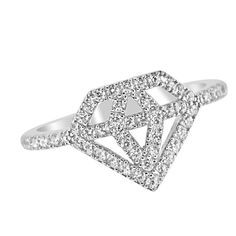 Diamonds Are Forever Silver Ring - Jewelry Buzz Box  - 1