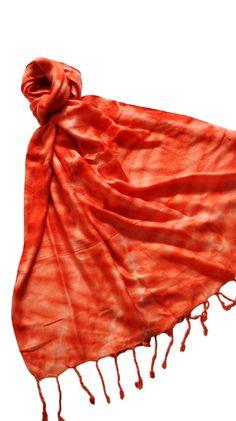 Coral Tie Dye Scarf
