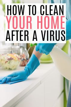 Have the virus at your house? Check out the best things to clean after being sick to prevent the spread and get back to normal. Cleaning Schedule Templates, House Cleaning Checklist, Cleaning Supply Storage, Cleaning Supplies, House Smell Good, Best Cleaning Products, Bathroom Cleaning Hacks, Clean House, Sick