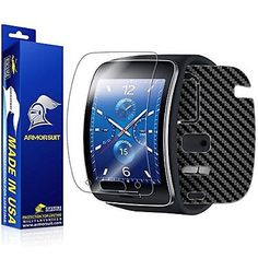 ArmorSuit MilitaryShield - Samsung Gear S Smartwatch Screen Protector Black Full