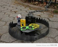 Love this! (hipster trap) We could use SO MANY of these in Austin right now for SXSW!
