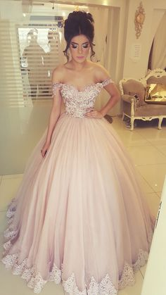 Off the Shoulder Tulle Birthday Dresses Quinceanera Gowns with Appliques Related posts:Gorgeous Royal Blue Jewel Sleeveless Beadings Quinceanera Dresses Sweet Sixteen Dresses, Sweet 16 Dresses, Sweet Dress, Pretty Dresses, Beautiful Dresses, 15 Dresses Pink, Summer Dresses, Ball Gowns Prom, Ball Dresses