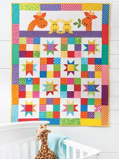Baby & Kids Quilt Patterns - EXCLUSIVELY ANNIE'S QUILT DESIGNS: Good Night Baby Quilt Pattern Baby Quilt Patterns, Print Patterns, Quilting Patterns, Quilting Tips, Quilting Projects, Sewing Projects, Lap Quilts, Quilt Blocks, Quilt Baby