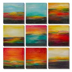 I Love the color in this !!!  Nine Piece Daybreak Art Collection