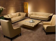 Sofa Sets Leather Facts To Know About Ashley Furniture Living Room Sets . Chesterfield Look Sofa Vintage Couch Moebeldeal Com . Home and Family Sofa Set Designs, Sofa Design, Interior Design, Furniture Sofa Set, Leather Living Room Furniture, Black Furniture, Furniture Design, Contemporary Leather Sofa, Best Leather Sofa