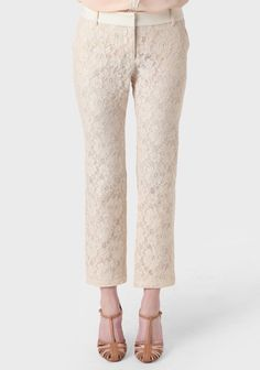 Bordeaux Bound Cropped Lace Pants