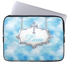Choose from a variety of Cool laptop sleeves or make your own! Shop now for custom laptop sleeves & more! Laptop Case, Ipad Case, Custom Laptop, Laptop Sleeves, School Binders, Back To School, Monogram, Clouds, Cool Stuff