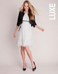 Pure Silk Polka Dot Maternity Dress | Seraphine