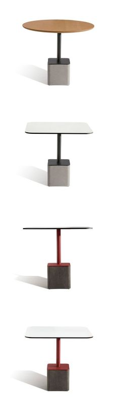 Francesc Rifé Gus Table - Table for the contract sector, available with both a round and square top, with a sober yet striking design. Furniture Dining Table, Concrete Furniture, Dinning Table, Find Furniture, Furniture Styles, A Table, Furniture Design, Coffee Table Desk, Round Coffee Table