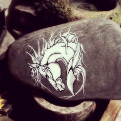 Horse stonepaint
