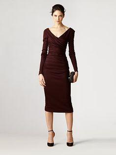 Really pretty for attending a fall wedding...Diane von Furstenberg - Bentley Ruched Dress - Saks.com