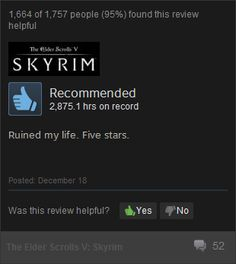 sums up skyrim perfectly