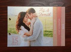 WEDDING INVITATION BOOKLET by RedCheeksDesign on Etsy, $75.00