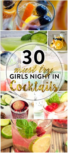 Are you ready for a Girls Night In? All you need is the perfect cocktail recipe! Check out 30 of our favorites!