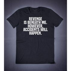Revenge Is Beneath Me Accidents However Will Happen Funny Slogan... ($14) ❤ liked on Polyvore featuring tops, cotton shirts, patterned collared shirts, check pattern shirt, shirt top and print shirts