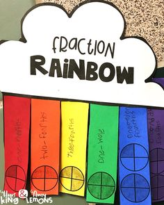 Students create fraction rainbows to understand parts of a whole and beyond!