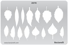 LEAF SHAPES Design Template Stencil for Drawing Drafting Jewellery Making