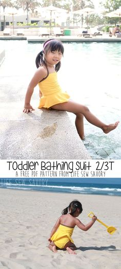 toddler bathing suit pattern from life sew savory a printable pdf free swimsuit pattern Source by allherown bathing suits Sie Badebekleidung Kinder Sewing Patterns For Kids, Easy Sewing Projects, Sewing Projects For Beginners, Sewing For Kids, Free Sewing, Sewing Tutorials, Pdf Patterns, Pattern Sewing, Toddler Swimsuits