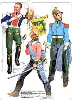 1_Trumpeter elite company 1st Lancers parade dress 1815 2_Trumpeter centre…