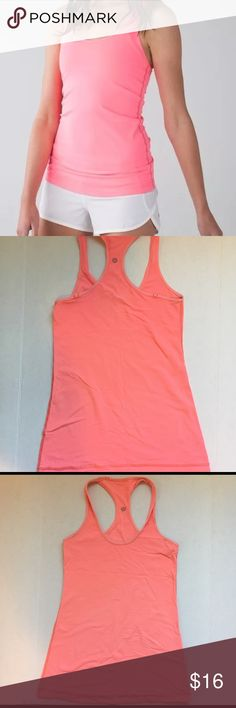 Lululemon cool Racerback Tank Top Good condition, slight pilling. Would best fit Medium. Measures 15 inches armpit to armpit length is 28 inches. lululemon athletica Tops Tank Tops