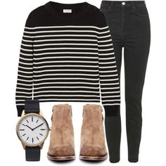 Untitled #4021 by laurenmboot on Polyvore featuring moda, Yves Saint Laurent, Topshop, H by Hudson and Uniform Wares