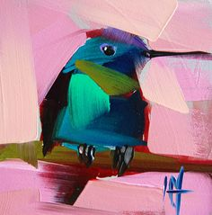Hummingbird no. 67 Painting | angela moulton's painting a day