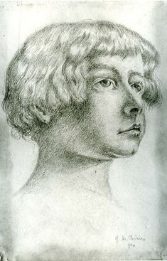 Giorgio de Chirico | Portrait of Giovinetto Aldo Castelfranco, September 1920, MOMA, NYC  | By renzodionigi, via Flickr